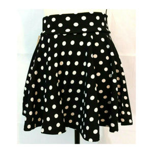 Skirt M 7-8 Mini Skater Circle Flare Polka Dot